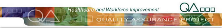 Quality Assurance Project Healthcare & Workforce Improvement banner