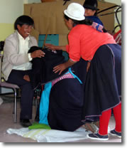 Role play of birth with birth attendants in Ecuador,