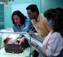 Health providers were trained in AMTSL procedures using anatomical models