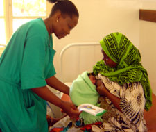 Healthcare workers in Tanzania are using job aids to counsel women on acceptable, feasible, affordable, sustainable, and safe (AFASS) options for infant feeding in the context of HIV